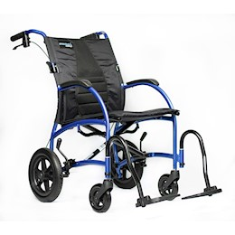 "Wheelchair 18"" Ultra Lightweight Ergonomic Transport Chair, Desk Length Arm, Strongback Excursion 12 THUMBNAIL"