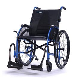 "Wheelchair 18"" Ultra Lightweight Ergonomic, Desk Length Arms, Strongback24 THUMBNAIL"