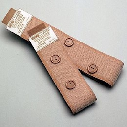 photo of Fitz-All® fabric leg bag straps with buttons by Urocare THUMBNAIL
