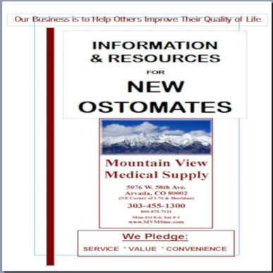 FREE Booklet:  Information & Resources for New Ostomates MAIN