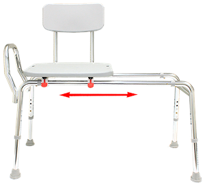 Sliding Transfer Bench with Back