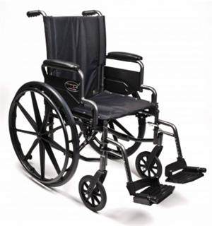 "Wheelchair 18"" Dual Axel Lightweight Premium, Traveler L4"
