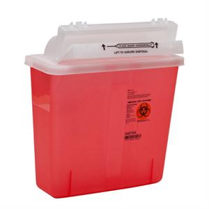 5 QT Counterbalance Door Sharps Container