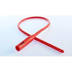 Red Rubber Catheter, Rounded Tip, 492058 THUMBNAIL