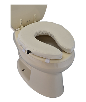 "Easy Air Toilet Seat Riser 2"", Adjustable"