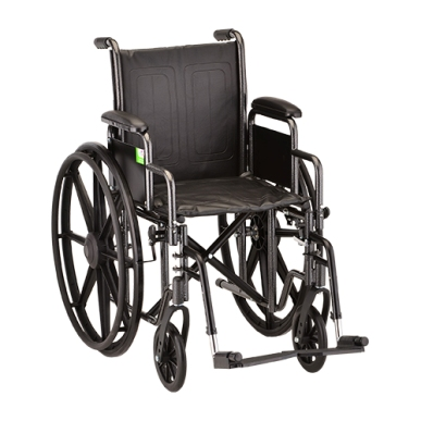 "Wheelchair 18"" Dual Axel w/Desk Length Arms MAIN"