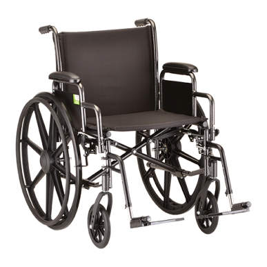 "Wheelchair, 20"" Heavy Duty w/Desk Length Arms"