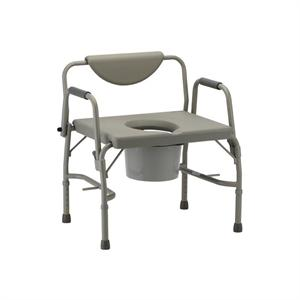 Heavy Duty Commode, Drop Arms, XWide Seat