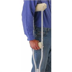 Sheepskin-like Fleece Covers for Crutches_THUMBNAIL
