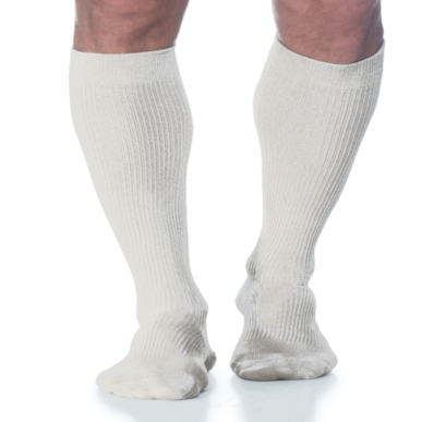 Compression Sock, Casual Cotton, Men's Knee High, Closed Toe, 15-20 mmHg MAIN