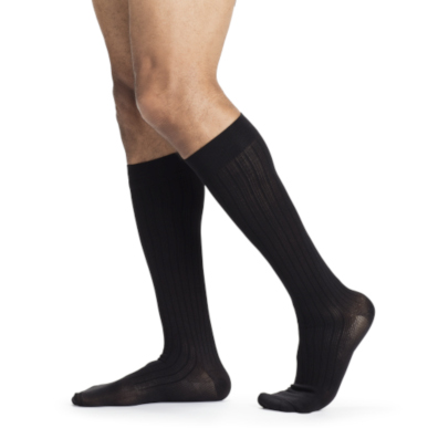 Compression Sock, Business Casual, Men's Knee High, Closed Toe, 15-20 mmHg_MAIN