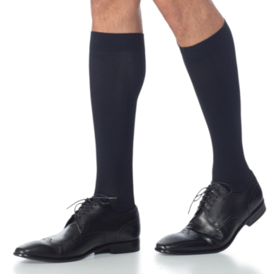 Compression Sock, Microfiber Series, Men's Knee High, Closed Toe, 20-30 mmHg MAIN