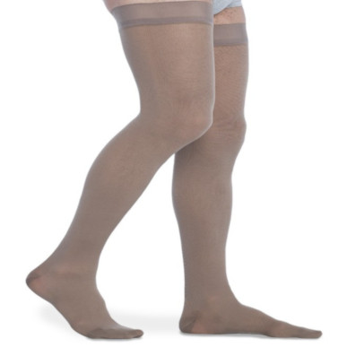 Compression Sock, Midtown Microfiber, Men's Thigh High, Closed Toe, 20-30 mmHg