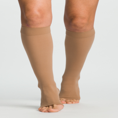 Compression Sock, Select Comfort, Knee High, Open Toe, 30-40 mmHg