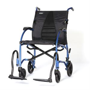"Wheelchair 18"" Ultra Lightweight Ergonomic Transport Chair, Desk Length Arms, Strongback Excursion 8"