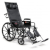 "Reclining Wheelchair 18"" Advantage Series Recliner, Desk Length Arms and Elevating legs Mini-Thumbnail"
