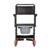 photo of Nova 8805 Drop Arm Transport Chair Commode back view 2 of 4