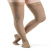 Compression Sock, Soft Opaque, Women's Thigh High with Grip-Top, Closed Toe, 15-20 mmHg Mini-Thumbnail