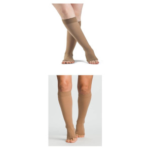 Knee High Compression Socks, Open Toe, 30-40 mmHg (Rx Required)