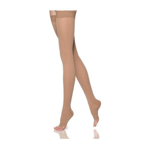 Thigh High Compression Stockings, Open Toe, 30-40 mmHg (Rx Required)