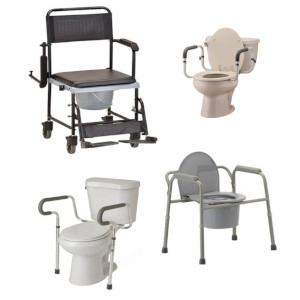 photo of Sunrise Guardian Toilet Safety Rail, Nova transport chair commode, toilet support rails, folding commode