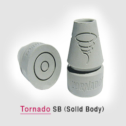 Crutch Tip, Tornado Solid Body Tip for Underarm or Forearm THUMBNAIL