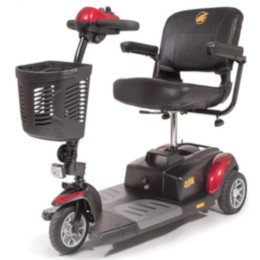 photo of Golden Technologies Buzzaround XL 3 Wheel Scooter in red GB117D THUMBNAIL