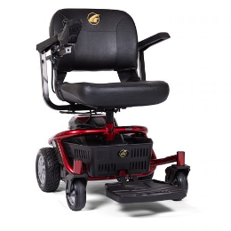 photo of Golden Technologies LiteRider Envy Power Wheelchair GP162 in red THUMBNAIL