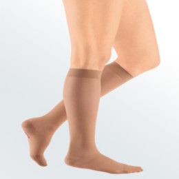 Compression Sock, Sheer & Soft, Women's Knee High, Closed Toe, 8-15 mmHg