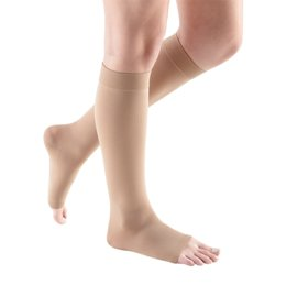 Compression Sock, Comfort, Unisex Knee High, Open Toe, 30-40 mmHg THUMBNAIL