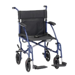 "Wheelchair 18"" Ultra Lightweight Transport Chair, Desk Length Arms THUMBNAIL"