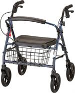 Nova Mack 4 Wheeled Walker, Heavy Duty, Blue