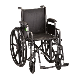 "Wheelchair 18"" Dual Axel w/Desk Length Arms THUMBNAIL"
