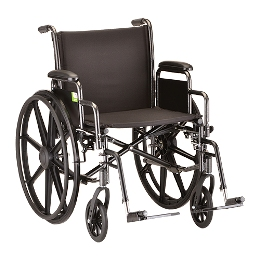 "Wheelchair, 20"" Heavy Duty w/Desk Length Arms THUMBNAIL"