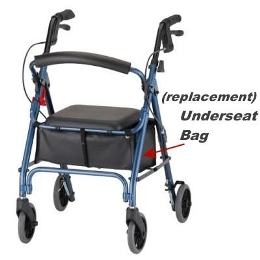 Bag / Pouch for Underseat for 4202C & Zoom 4-Wheeled Walkers, V4218N
