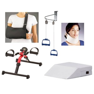 Aids for rehab therapy in Arvada and Denver.  Pillow, brace, compression & more!