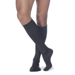 Compression Sock, Business Casual, Men's Knee High, 15-20 mmHg THUMBNAIL