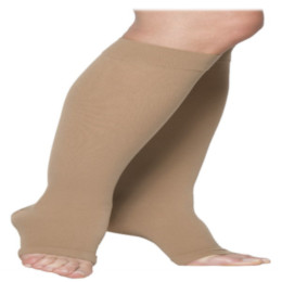 Compression Sock, Cotton Series, Unisex Knee High, Open Toe, 20-30 mmHg THUMBNAIL