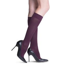 Compression Sock, Soft Opaque, Women's Knee High, Closed Toe, 15-20 mmHg