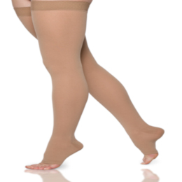 Compression Sock, Select Comfort, Thigh High, Open Toe, 20-30 mmHg
