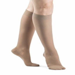photo of Sigvaris Compression Sock, Dynaven Series 970, 972C, Women's Knee High, Closed Toe, 20-30 mmHg THUMBNAIL