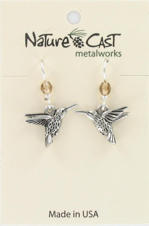 Earring dangle hummingbird