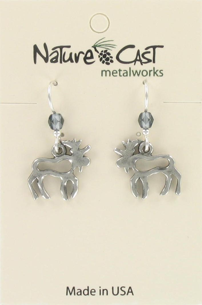 Earring dangle cutout moose THUMBNAIL