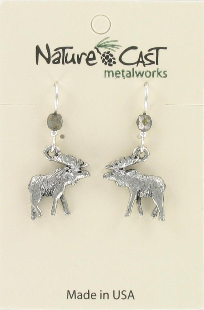 Earring dangle elk THUMBNAIL