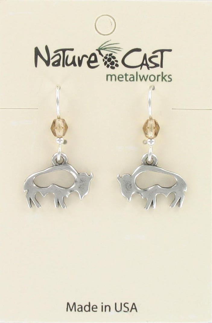 Earring dangle cutout buffalo THUMBNAIL