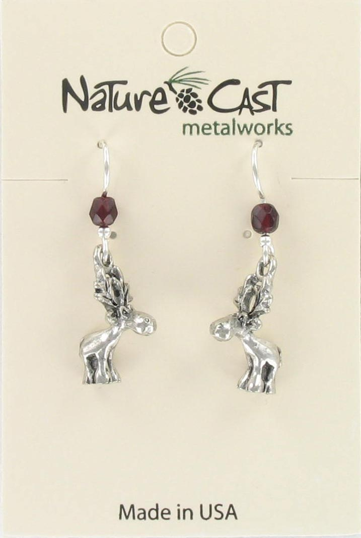 Earring dangle whimsical moose THUMBNAIL