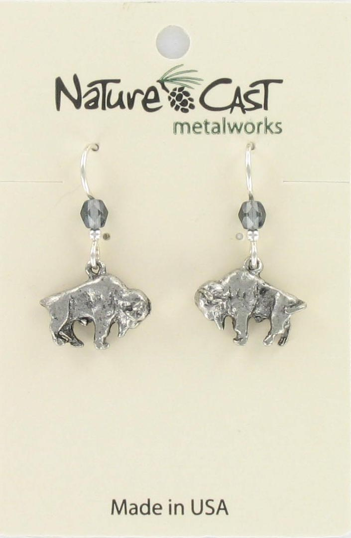 Earring dangle buffalo THUMBNAIL