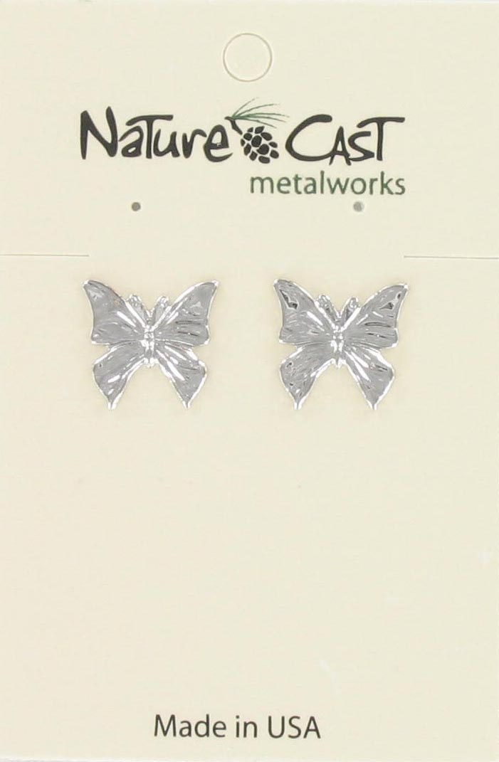 Earring post flat butterfly