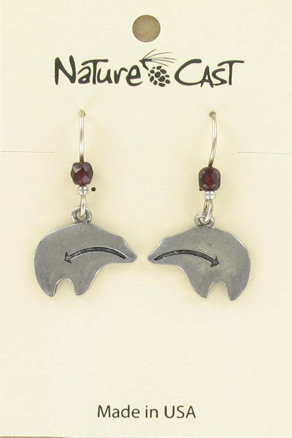 Earring dangle heartline bear THUMBNAIL