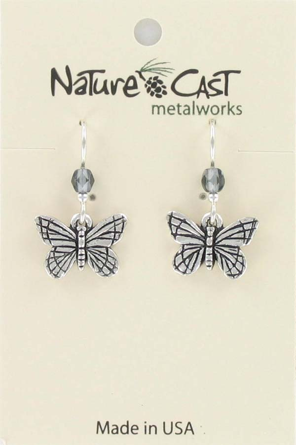 Earring dangle Monarch Butterfly THUMBNAIL